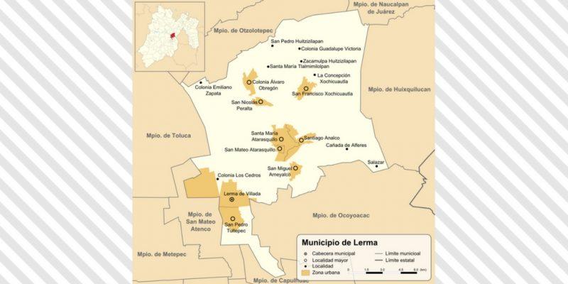 Mapa de Lerma en Toluca
