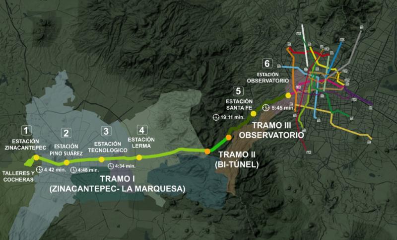 Tren Interurbano de Pasajeros Mexico - Toluca