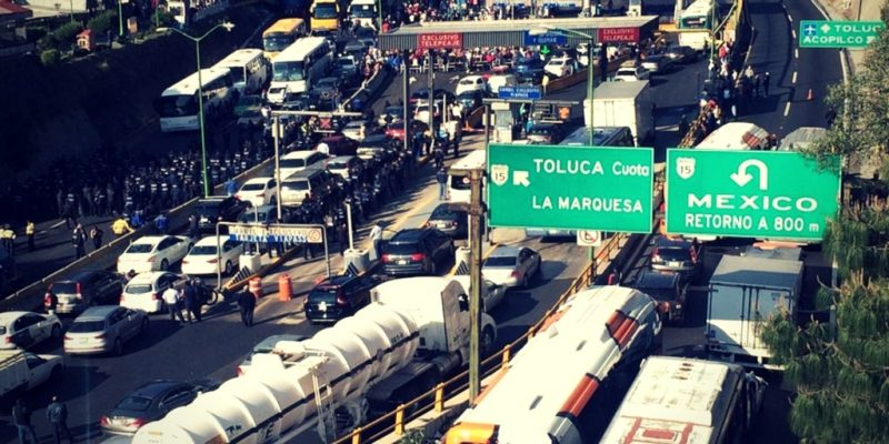 Tráfico en la carretera de Toluca