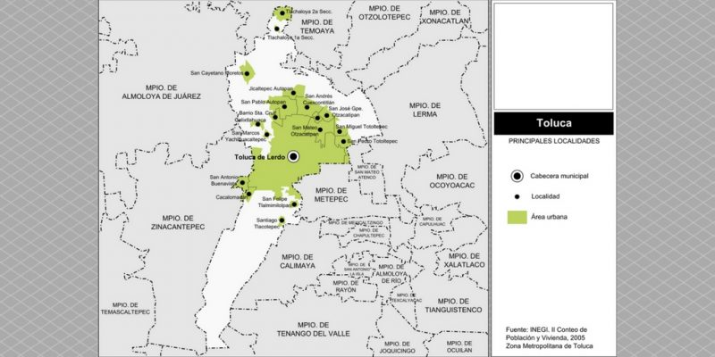 Mapa de Toluca y sus Municipios