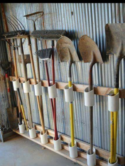 tubos de PVC para orden en el hogar