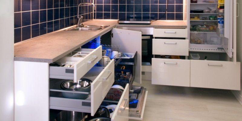 espacios de almacenaje en la cocina