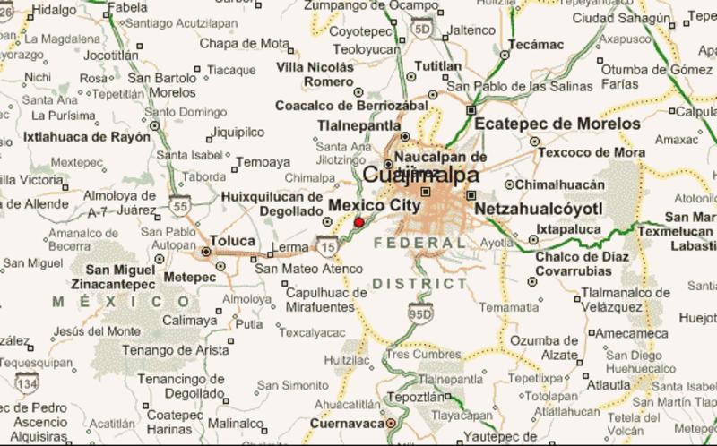 mapa y accesos a cuajimalpa