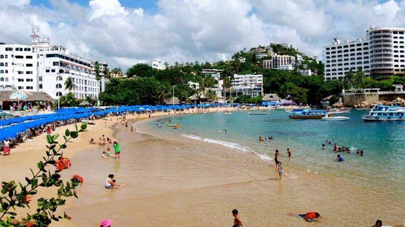 Playa en Acapulco, Guerrero, México