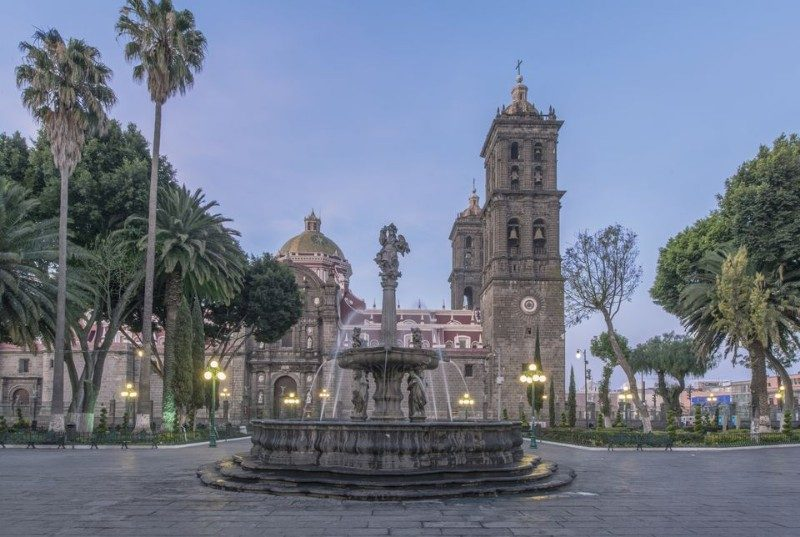 Zocalo de Puebla al Amanecer
