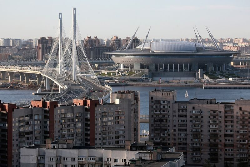 El estadio de San Petersburgo en Rusia