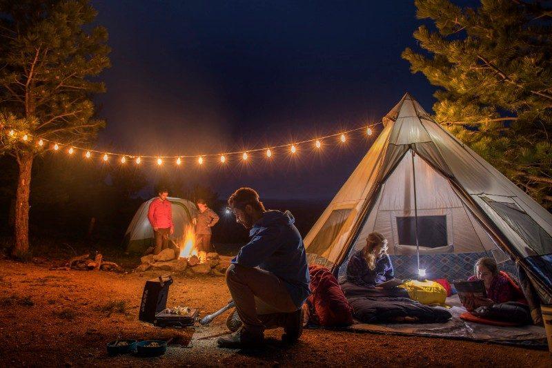 Campamento en Navidad