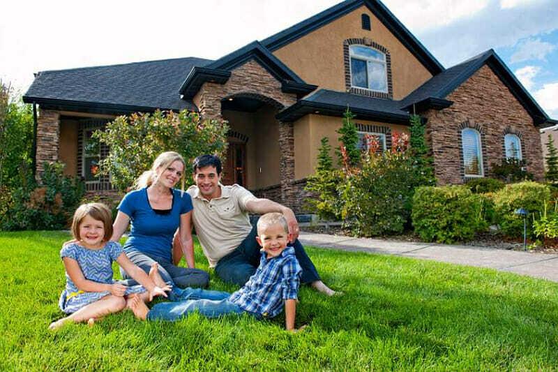 vida en familia en una casa