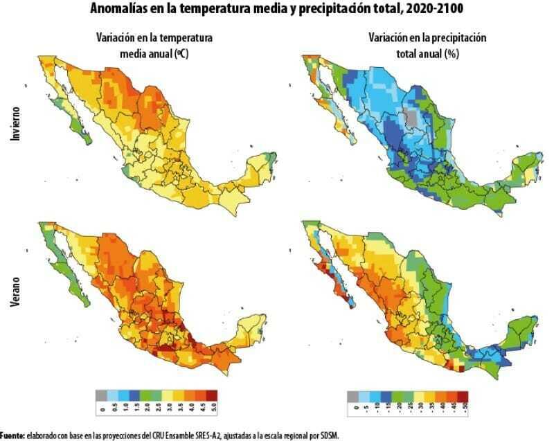 Temperaturas por Cambio Climático en México