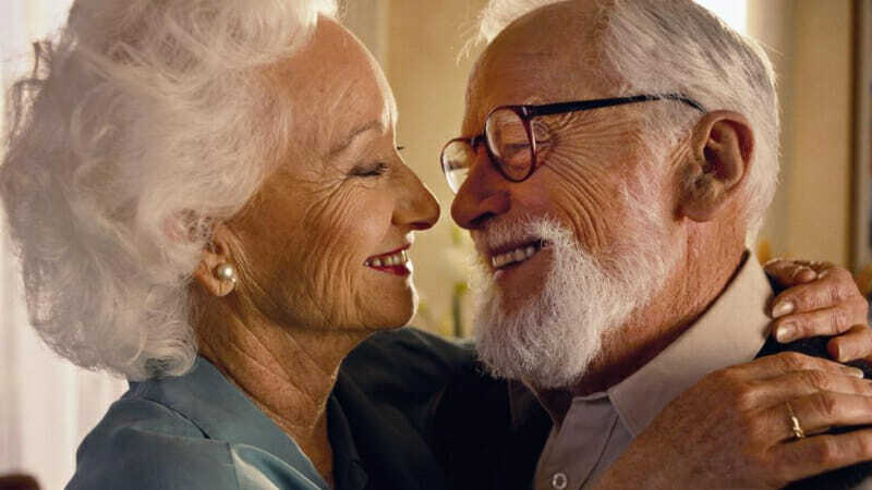 Abuelos felices