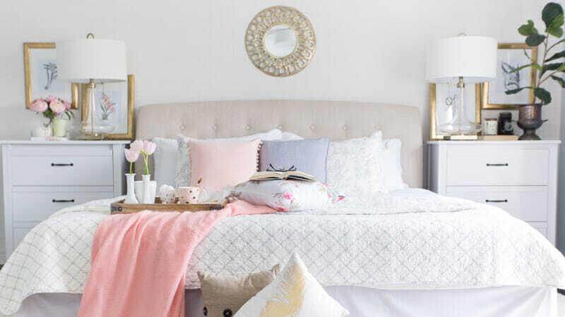 Habitación en tonos pastel