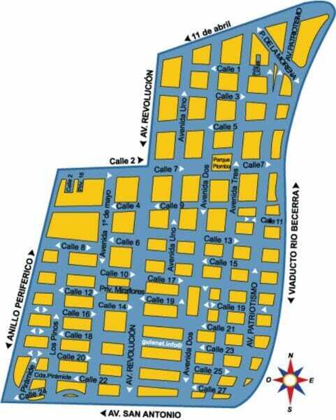 Plano de la Colonia San Pedro de los Pinos