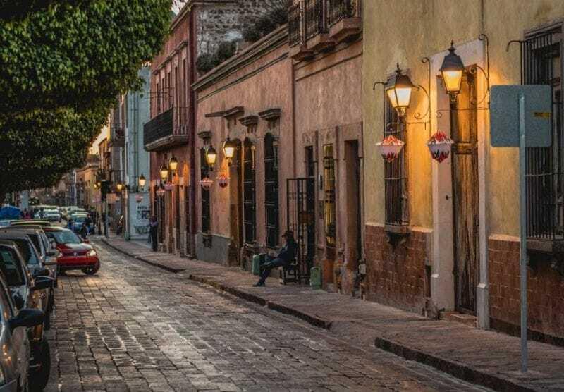 Calle en Querétaro, México