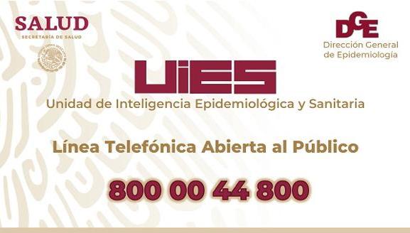 Teléfono para Coronavirus en México