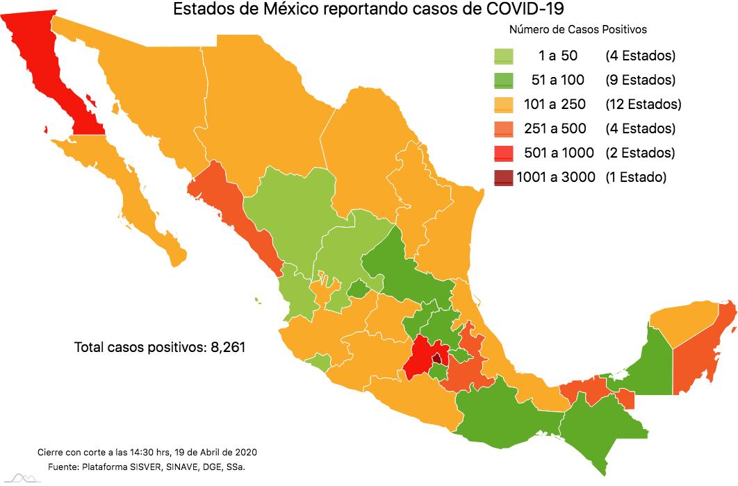 Mapa COVID-19 México